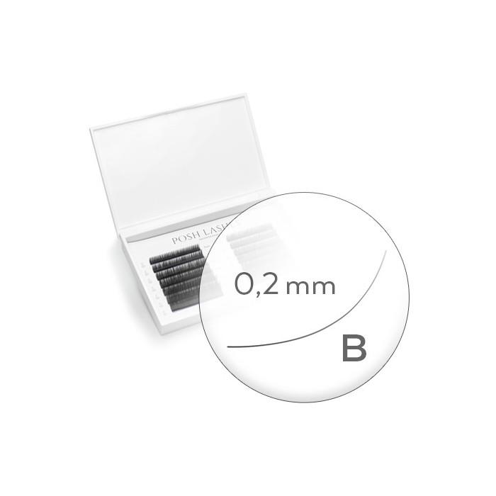 Silk, Black, B, 0.2 14 mm / mała paletka