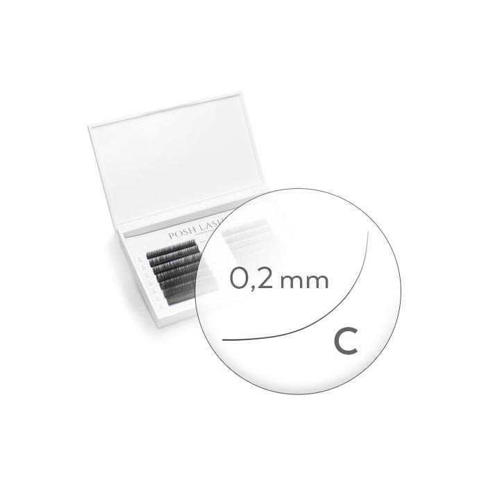 Silk, Black, C, 0.2 10mm / duża paletka
