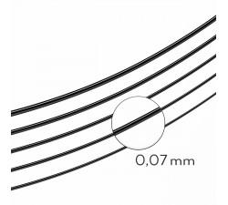 Silk, Black, D, 0.07 8mm / mała paletka