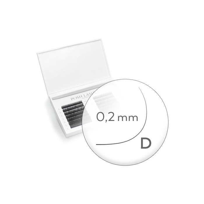 Silk, Black, D, 0.2 12mm/ duża paletka